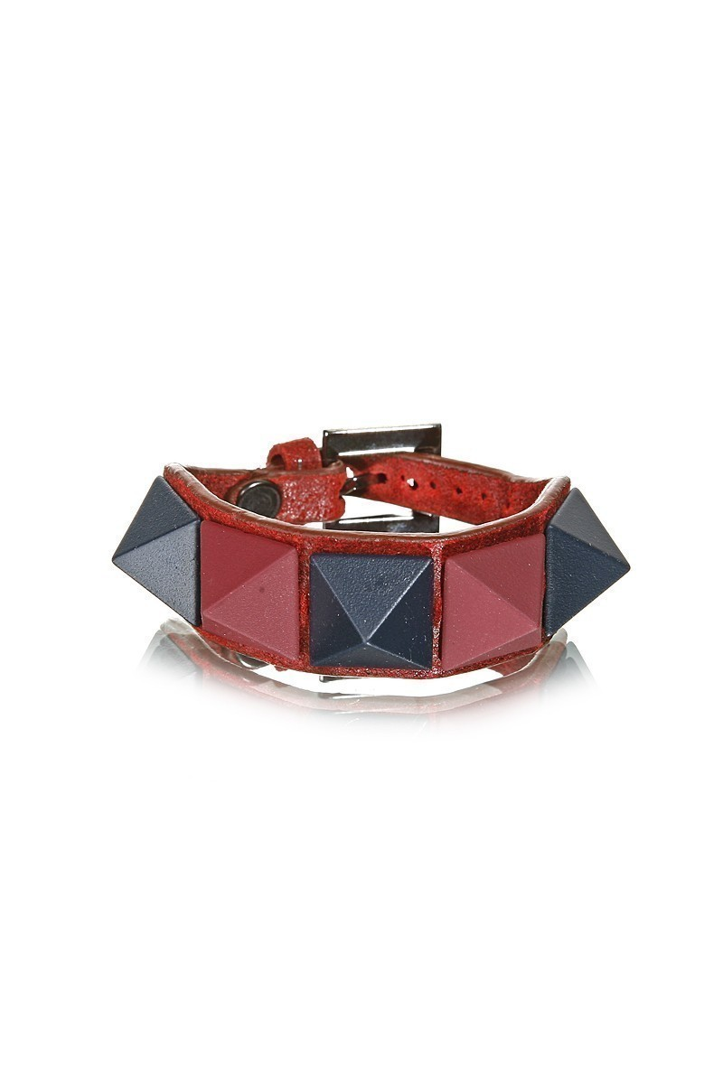 Divax Kırmızı DMBPBS515-KIR Mat Boyalı Piramit Bileklik