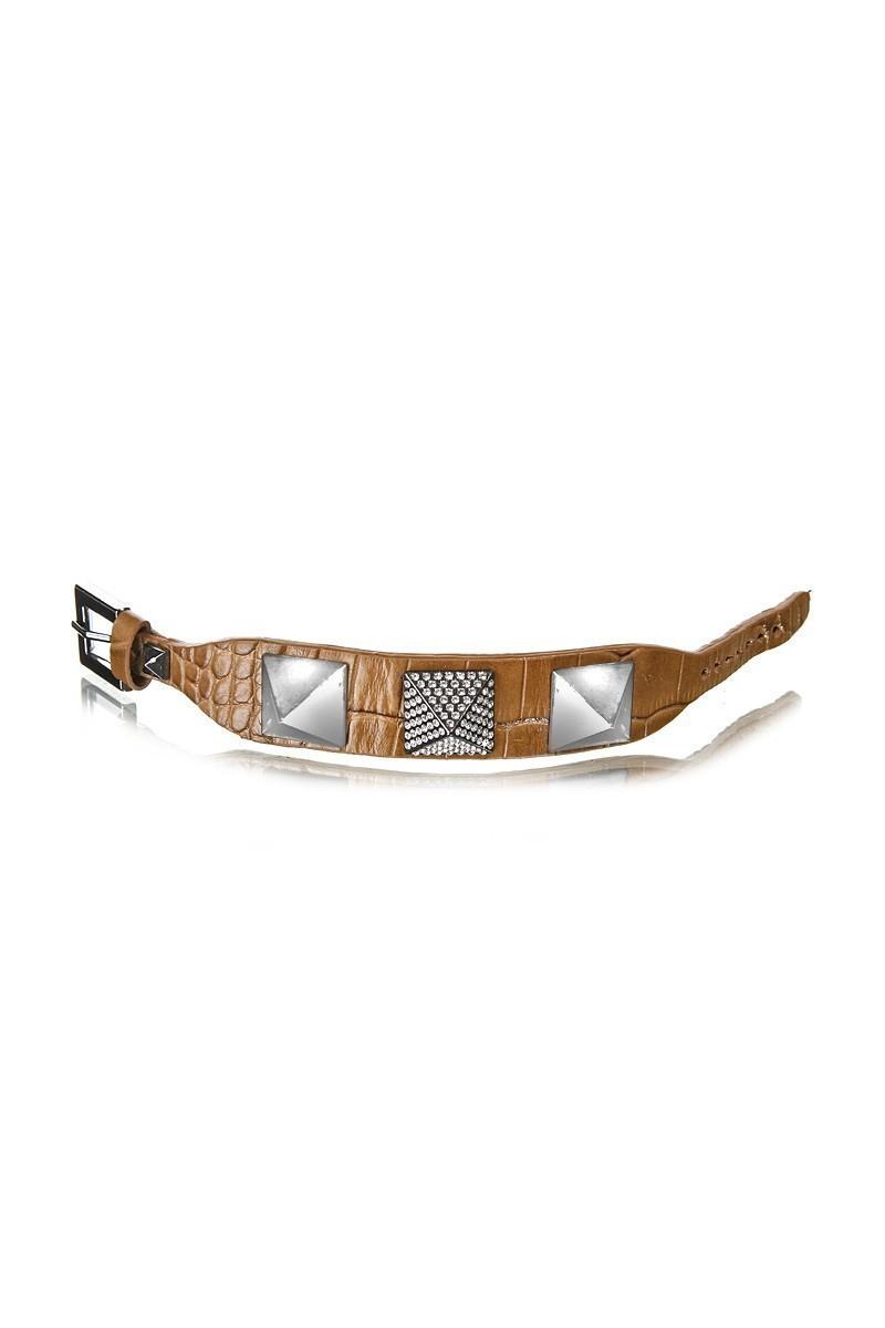 Divax Kahverengi DSNTDP514-KAHVE Swarovski Taşlı Bileklik