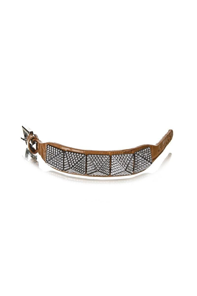 Divax Kahverengi DSNTP513-KAHVE Swarovski Taşlı Bileklik