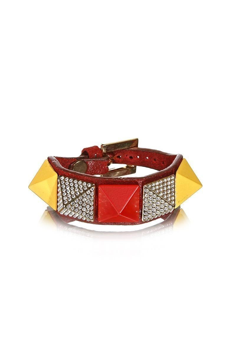 Divax Kırmızı DSNTP513-KIR-GS Swarovski Taşlı Bileklik