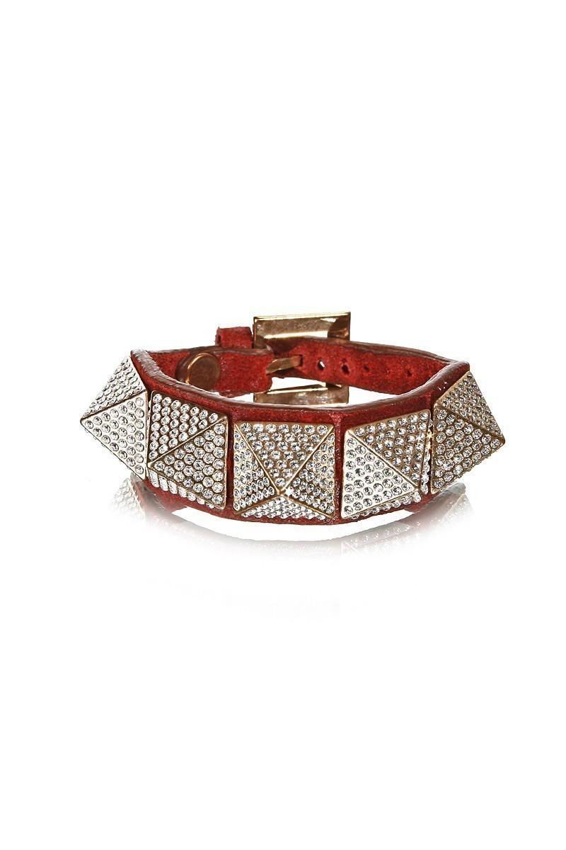 Divax Kırmızı DRAKTP510-KIR Swarovski Taşlı Bileklik