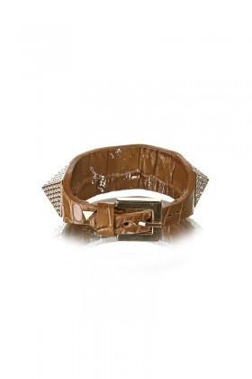 Divax Kahverengi DAKTP509-KHV Swarovski Taşlı Bileklik