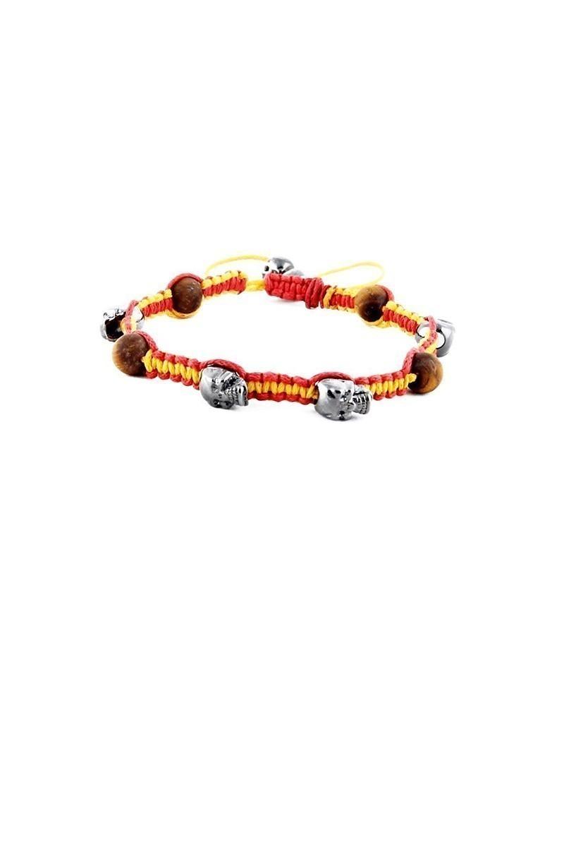 Divax Sarı-Kırmızı DMKGCOGS013 Red Lion Fanatic Doğal Kaplangözü Taşlı Bileklik
