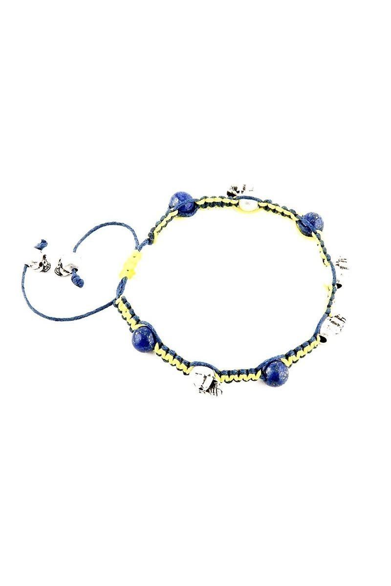 Divax Sarı-Lacivert DLCOFB012-GMS Deep Blue Fanatic Bileklik
