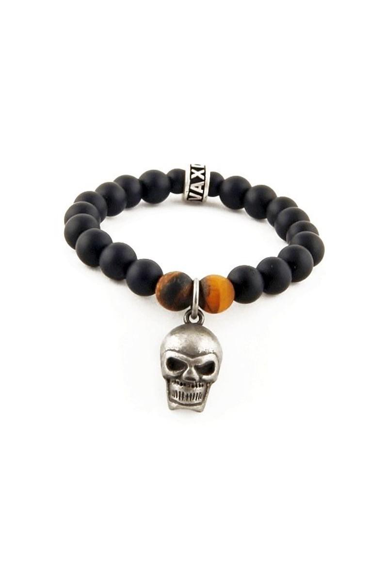 Divax Siyah DMOMKG006 Bold Skull Doğal Taşlı Bileklik