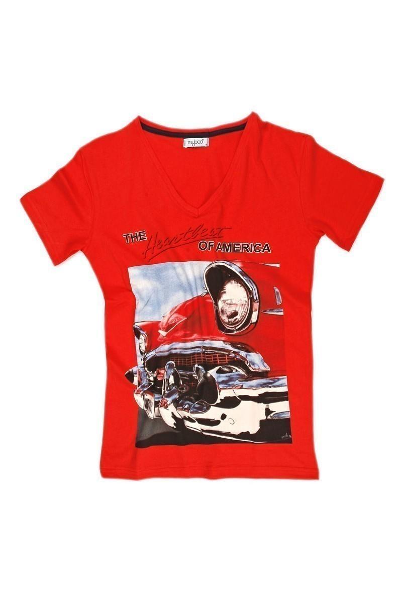 Myboo Kırmızı MB-006 Erkek Tişört