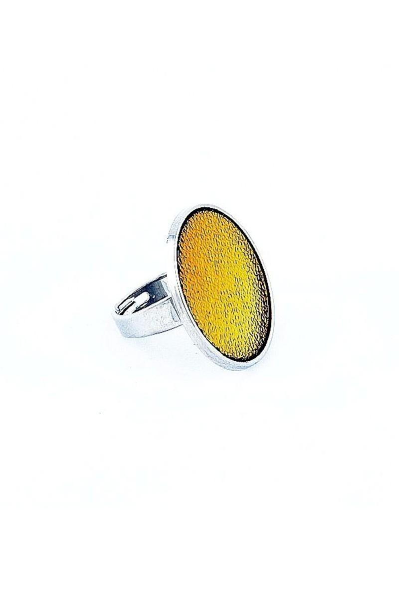 Divax Sarı DCCY518-SRI Chic Colour Yüzük