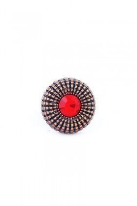 Divax Kırmızı DEOSY524-KIR Eye Of Sun Yüzük