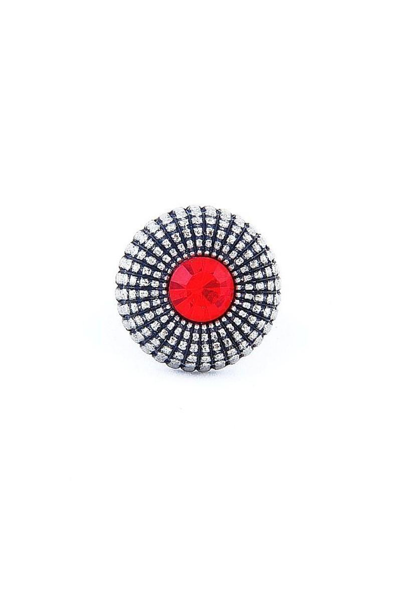 Divax Kırmızı DEOSY524-KRZ Eye Of Sun Yüzük
