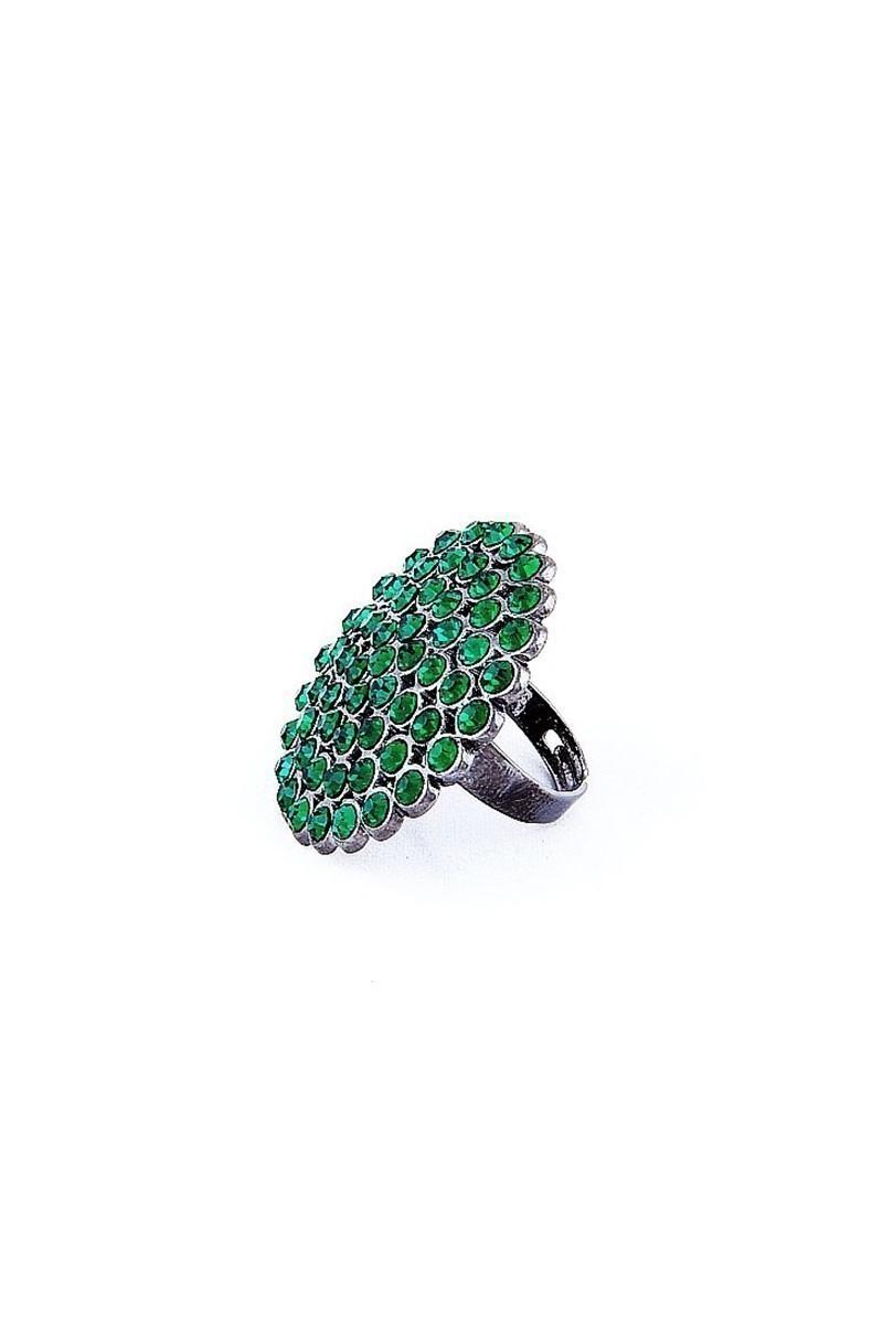 Divax Yeşil DRBY529-YSL Rose Bouquet Yüzük
