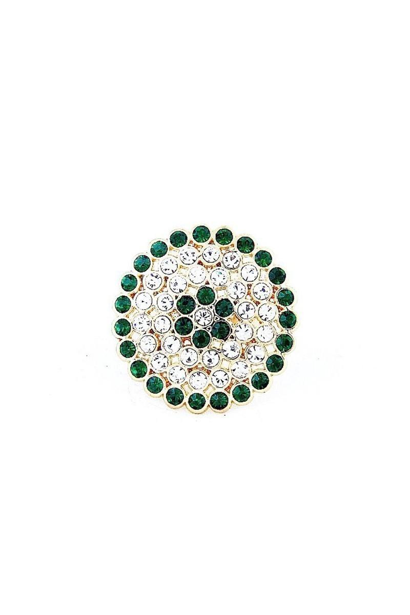 Divax Yeşil-Beyaz DRBY529-YSL-BYZ Rose Bouquet Yüzük