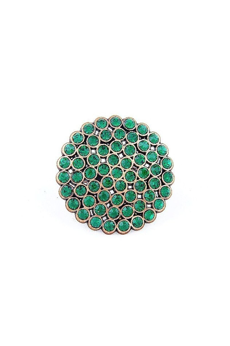 Divax Yeşil DRBY529-YESIL Rose Bouquet Yüzük