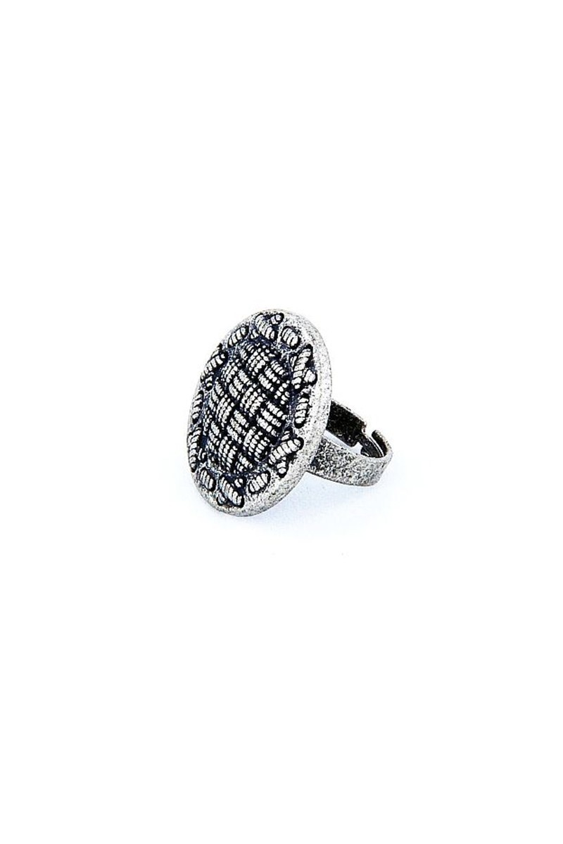 Divax Gümüş Rengi DKBY526-NKL Knit Basket Yüzük