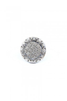 Divax Gümüş Rengi DKBY526-GMS Knit Basket Yüzük