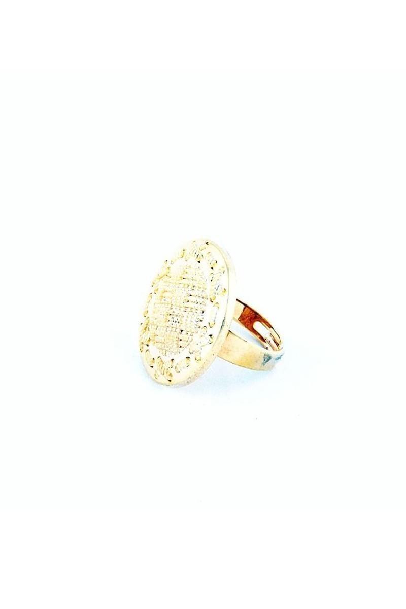 Divax Altın Sarısı DKBY526 Knit Basket Yüzük