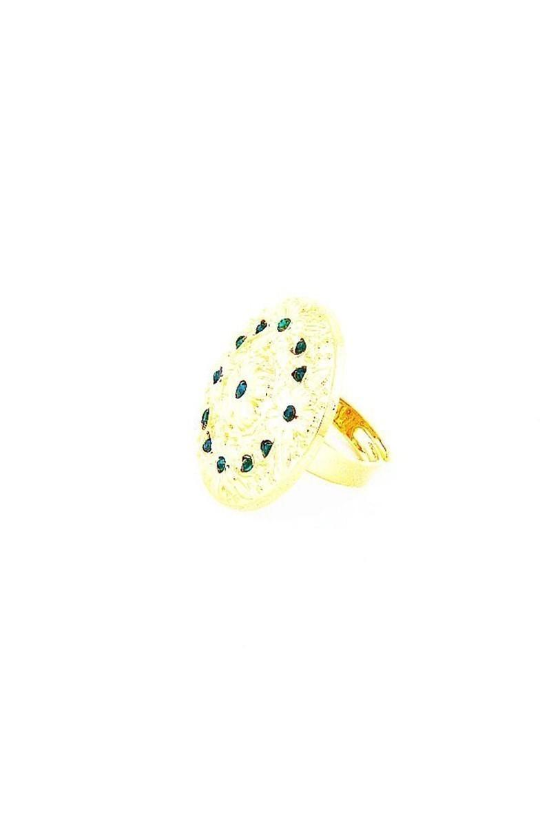 Divax Yeşil DFGY525-YESL Flower Garden Yüzük