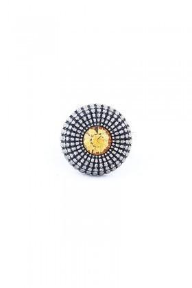 Divax Sarı DEOSY524-SR Eye Of Sun Yüzük