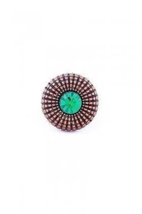 Divax Yeşil DEOSY524-YSL Eye Of Sun Yüzük