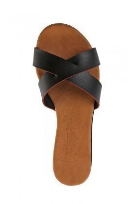Carel Siyah CRL-1504 Dolgu Topuk Bayan Terlik