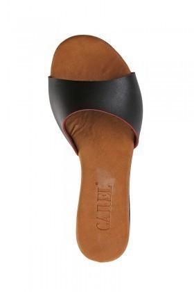 Carel Siyah CRL-1503 Dolgu Topuk Bayan Terlik