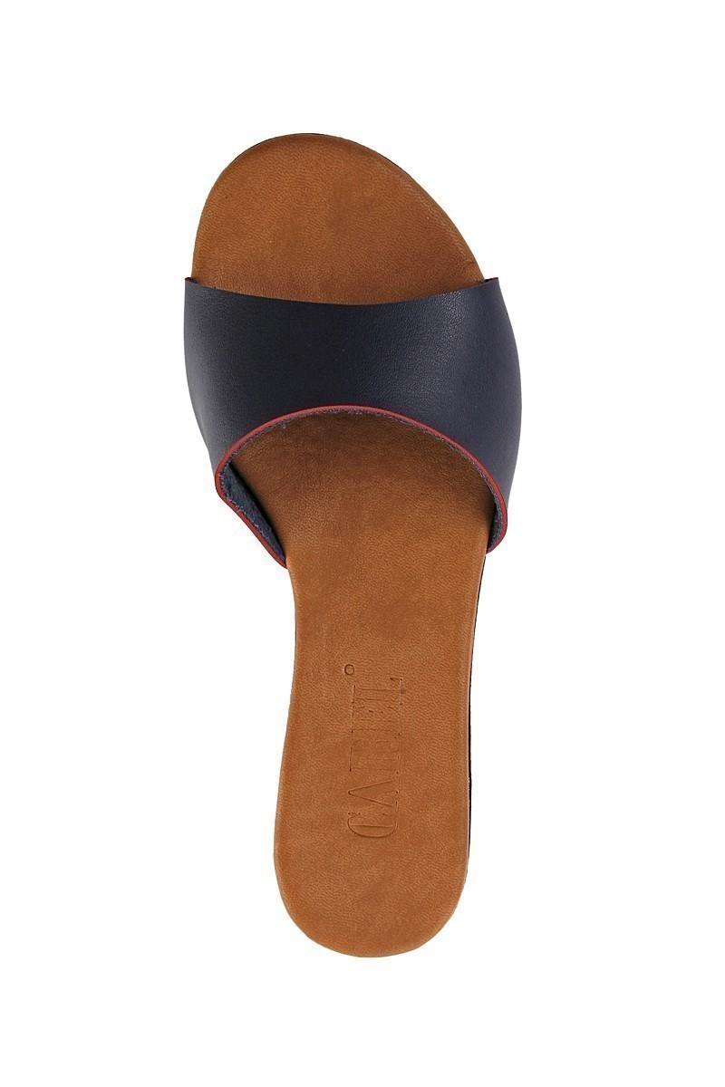 Carel Lacivert CRL-1503 Dolgu Topuk Bayan Terlik