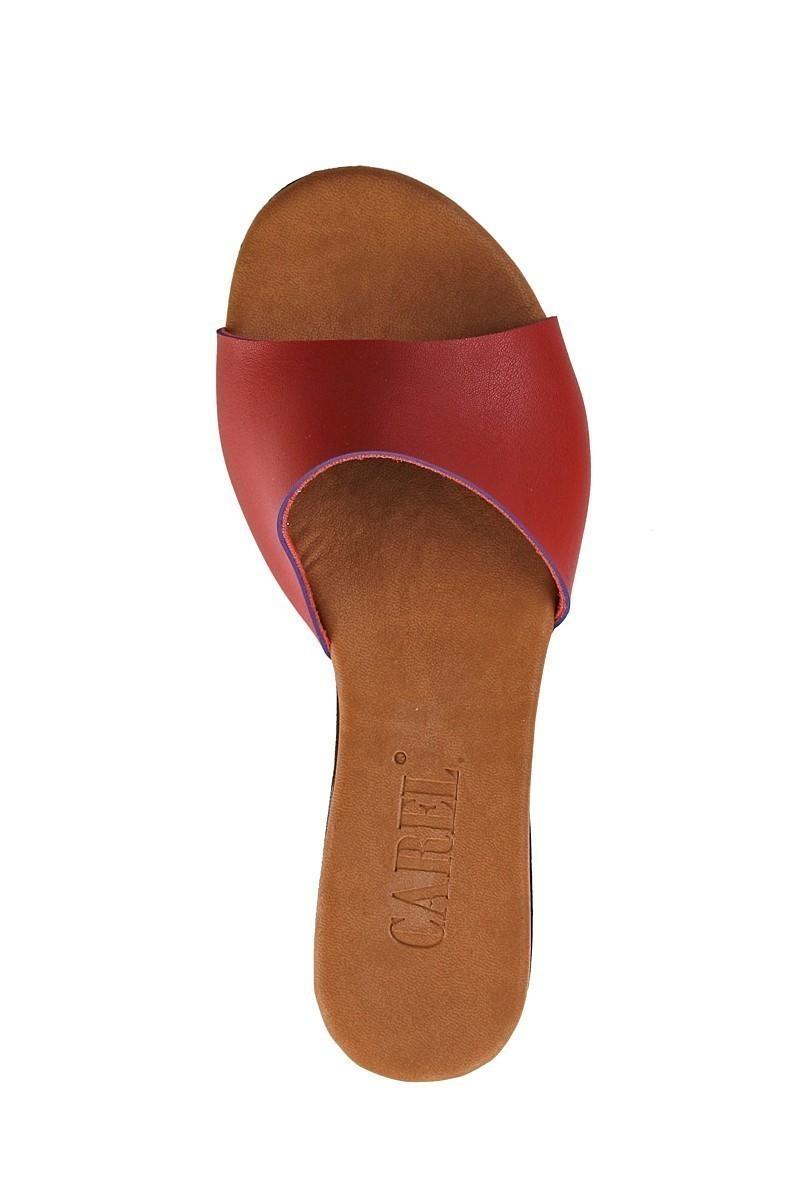 Carel Kırmızı CRL-1503 Dolgu Topuk Bayan Terlik
