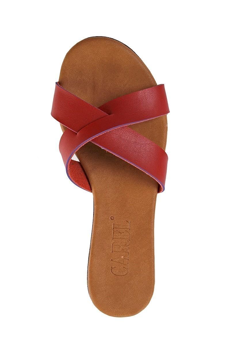 Carel Kırmızı CRL-1504 Dolgu Topuk Bayan Terlik