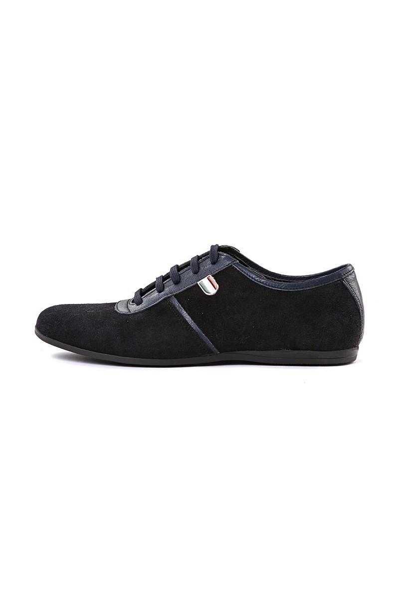 Pandew Lacivert PNDW-7007 Hakiki Deri Erkek Ayakkabı