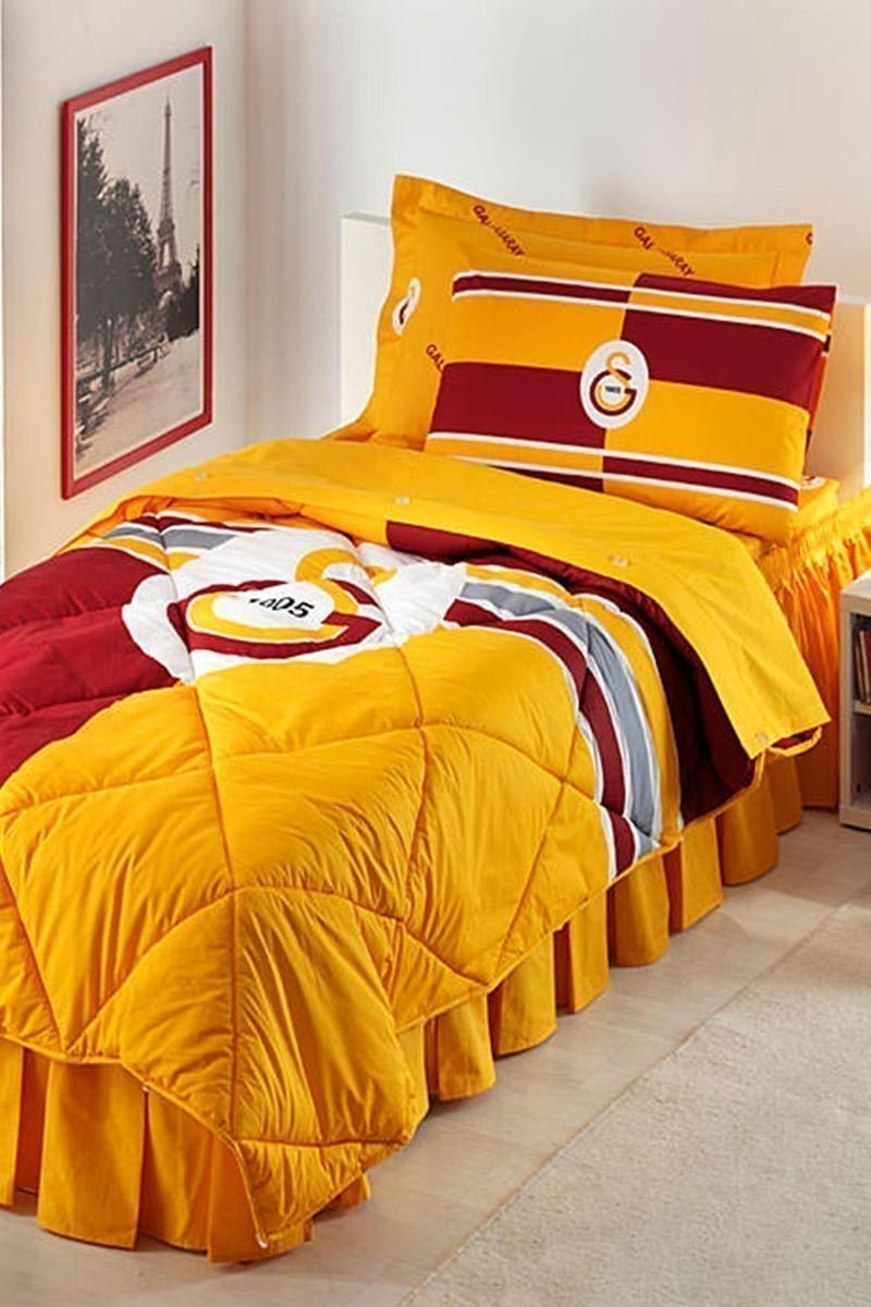 Taç Sarı-Kırmızı DD-60050016 Taç Uyku Seti Genç Gs Logo