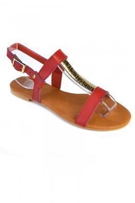 Carel Kırmızı CRL-1605 Bayan Sandalet