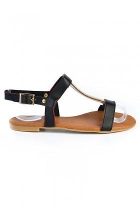 Carel Siyah CRL-1605 Bayan Sandalet