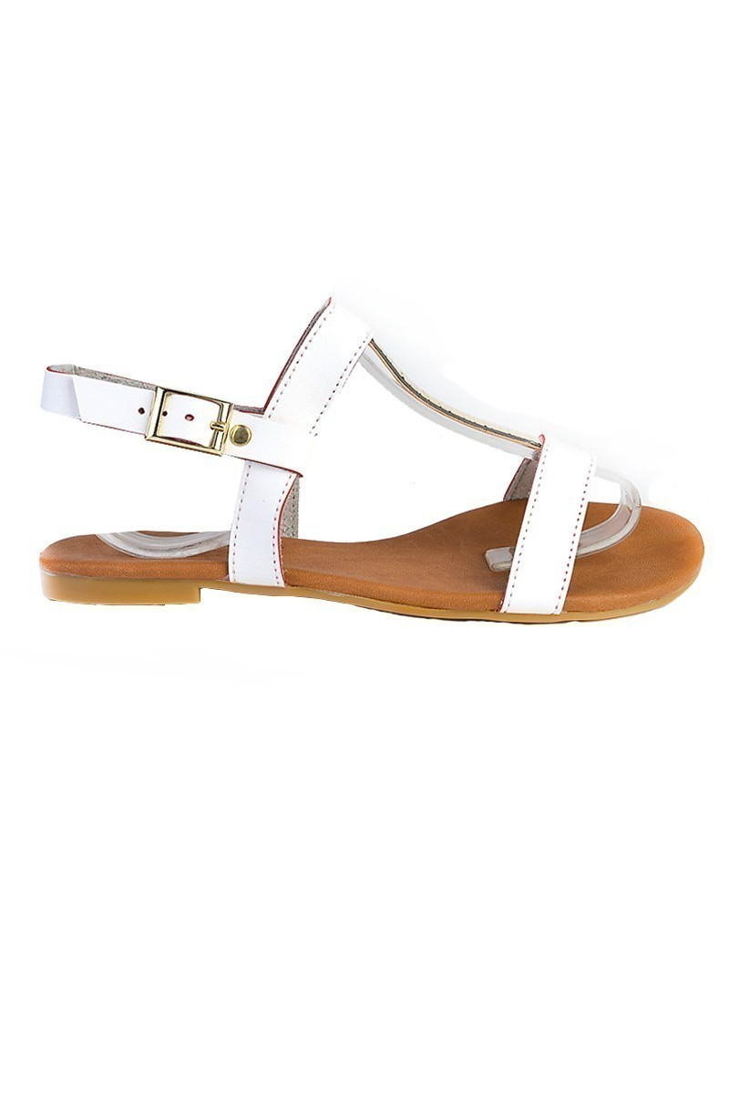 Carel Beyaz CRL-1605 Bayan Sandalet