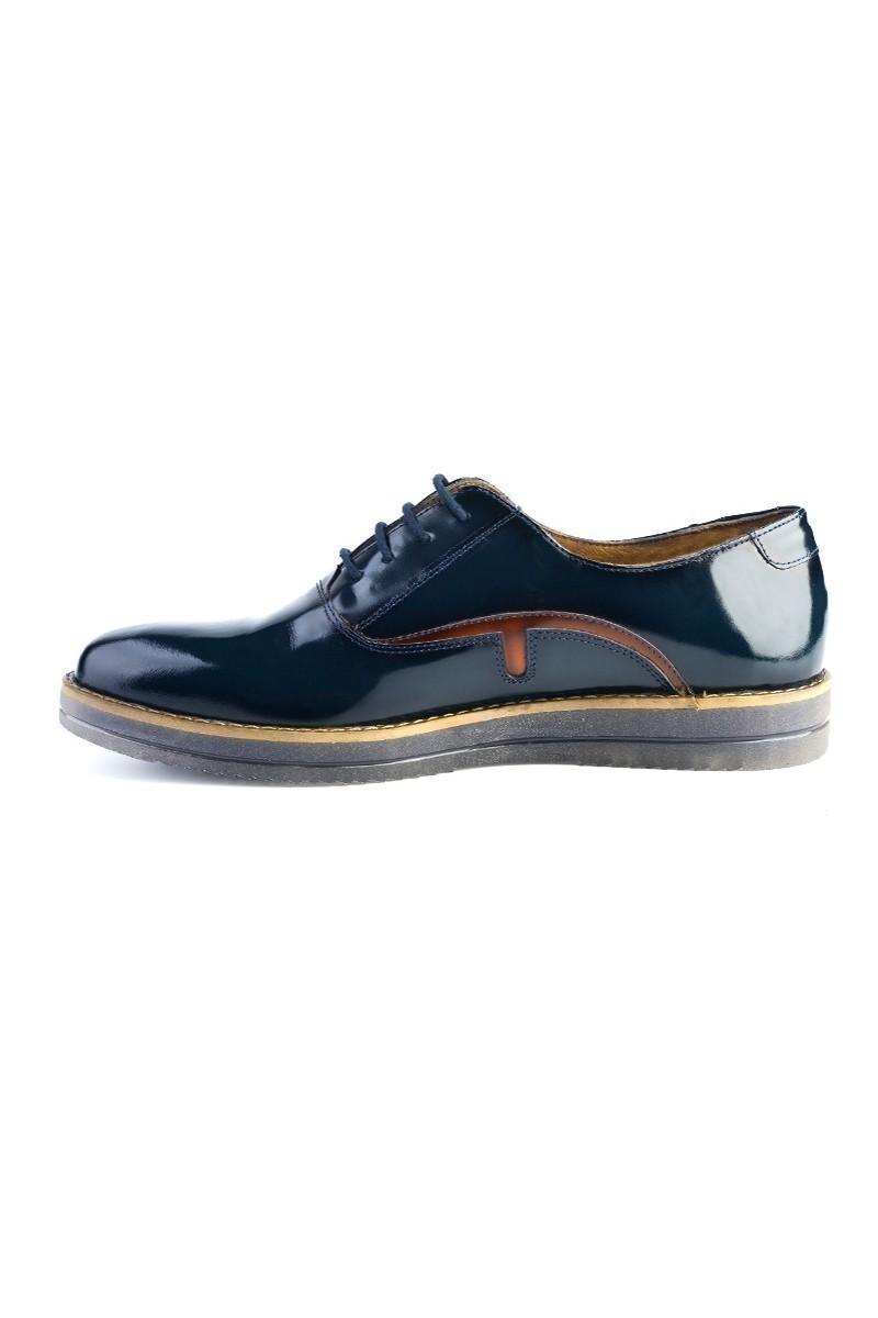 Pandew Lacivert PNDW-695 Hakiki Deri Erkek Ayakkabı