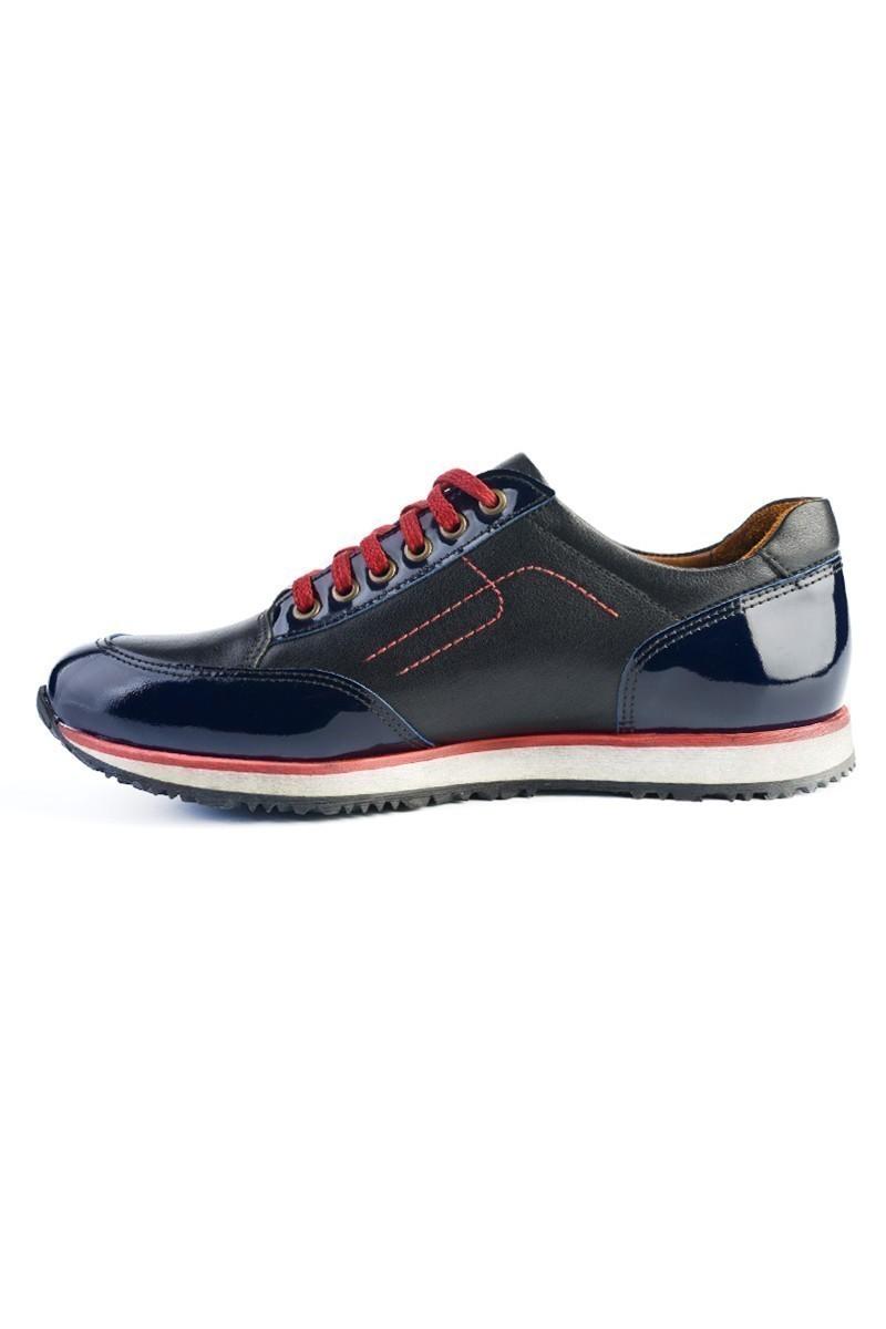Pandew Lacivert PNDW-8093 Hakiki Deri Erkek Ayakkabı
