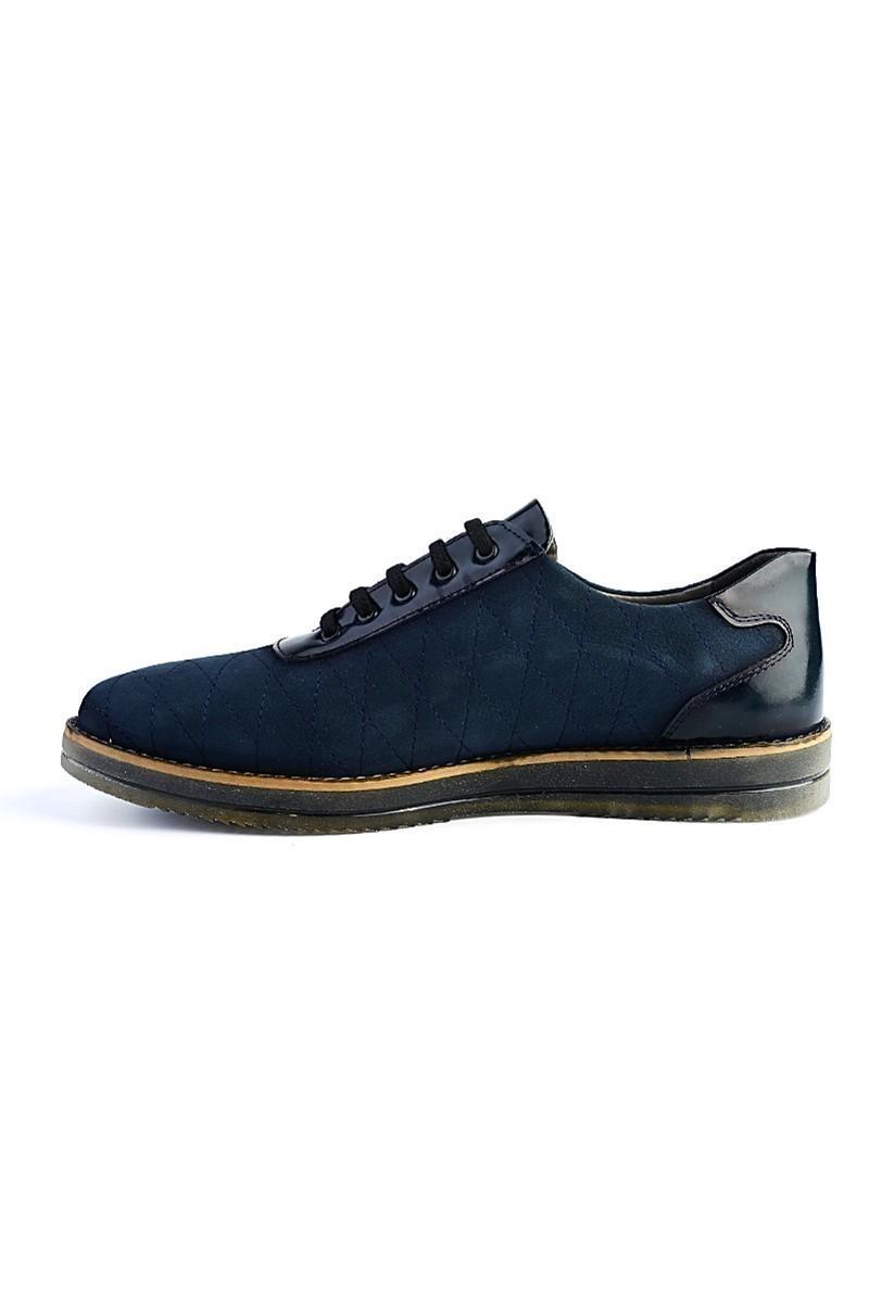 Pandew Lacivert PNDW-645 Hakiki Deri Erkek Ayakkabı