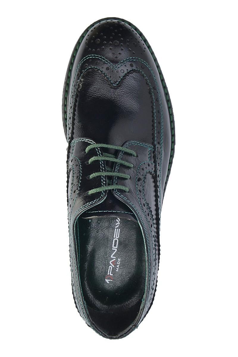 Pandew Siyah-Yeşil PNDW-8080 Hakiki Deri Erkek Ayakkabı