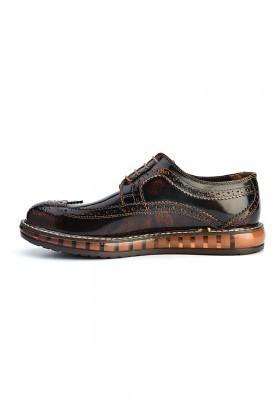 Pandew Kahverengi PNDW-8080-RUGAN Hakiki Deri Erkek Ayakkabı