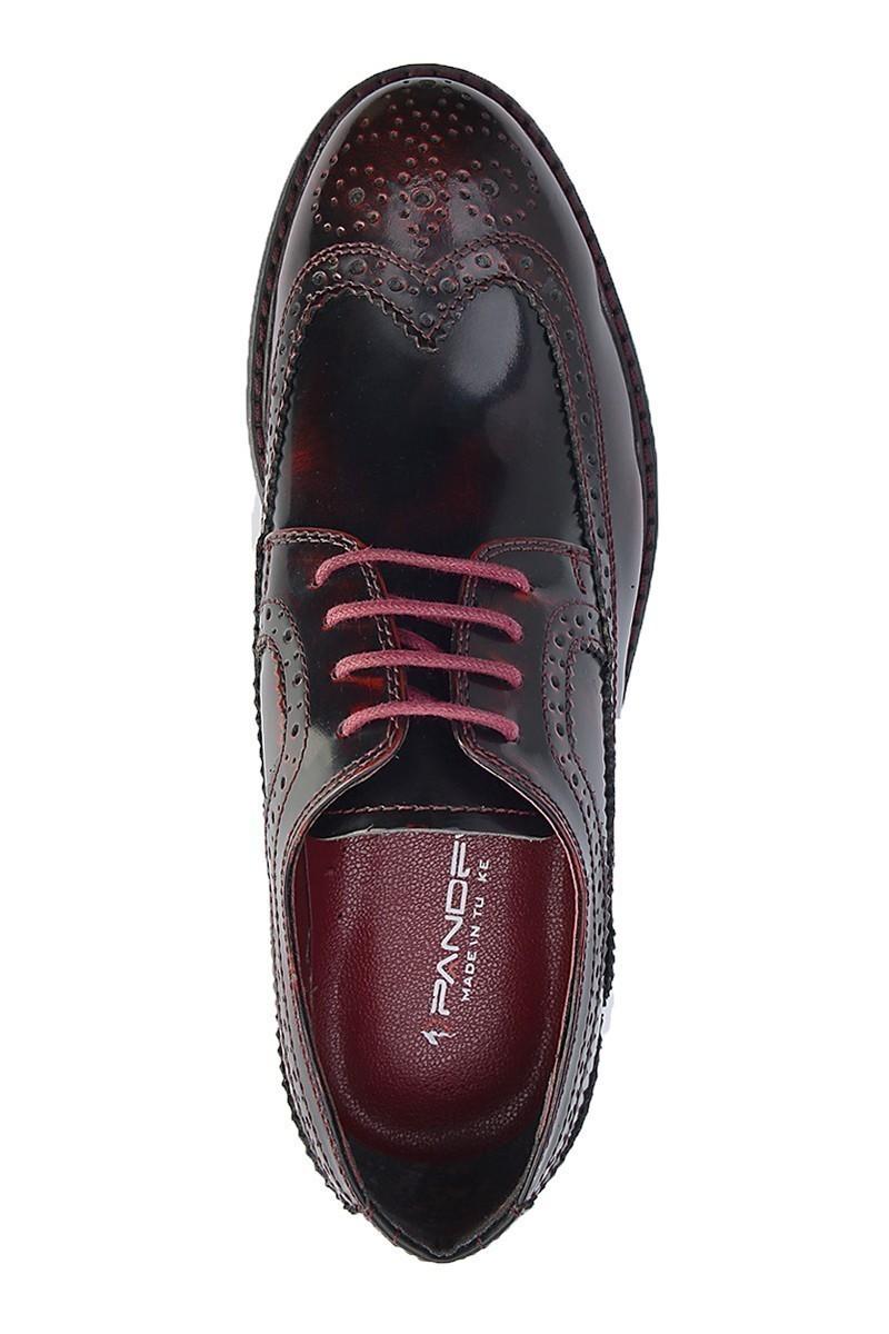 Pandew Bordo PNDW-8080-RUGAN Hakiki Deri Erkek Ayakkabı