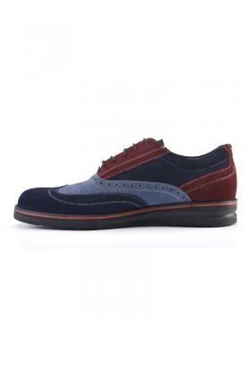 Pandew Lacivert-Mavi PNDW-211 Hakiki Deri Erkek Ayakkabı