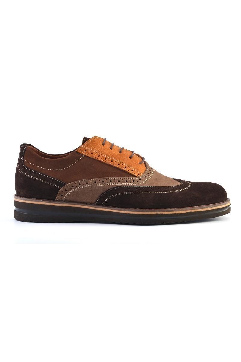 Pandew Kahverengi-Taba PNDW-211 Hakiki Deri Erkek Ayakkabı