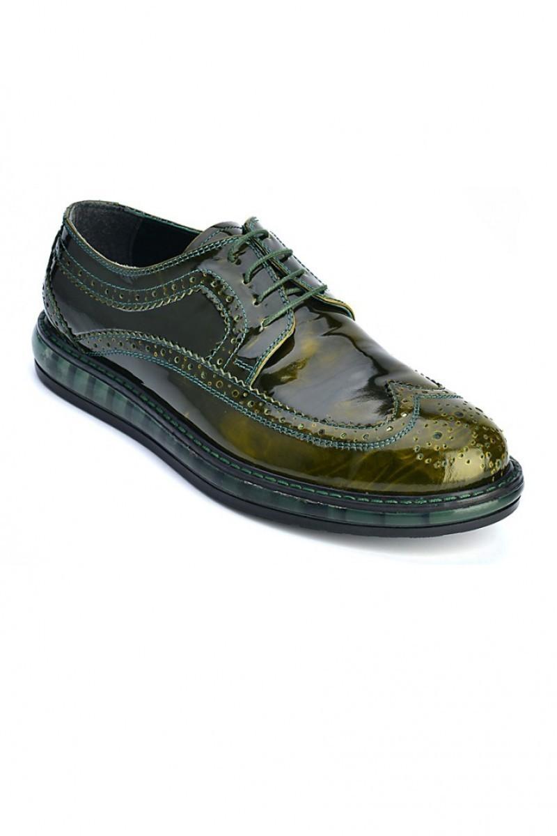 Pandew Yeşil PNDW-8080-RUGAN Hakiki Deri Erkek Ayakkabı
