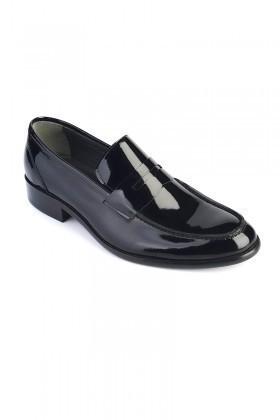 Wenetti Siyah WNT-4386 Erkek Rugan Ayakkabı