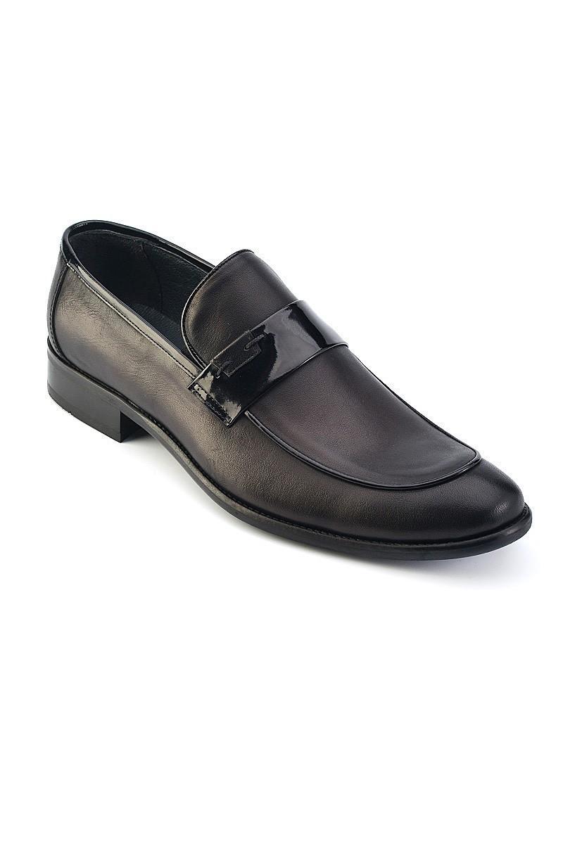 Wenetti Siyah WNT-001 Hakiki Deri Klasik Erkek Ayakkabı