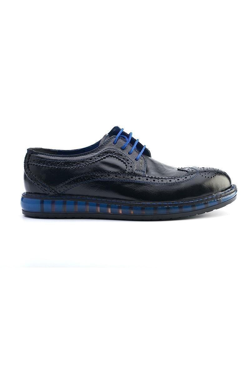 Pandew Siyah-Saks PNDW-8080 Hakiki Deri Erkek Ayakkabı