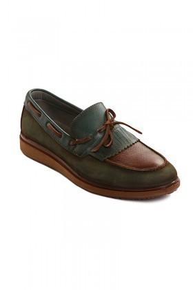 Pandew Yeşil PNDW-145 Hakiki Deri Erkek Ayakkabı