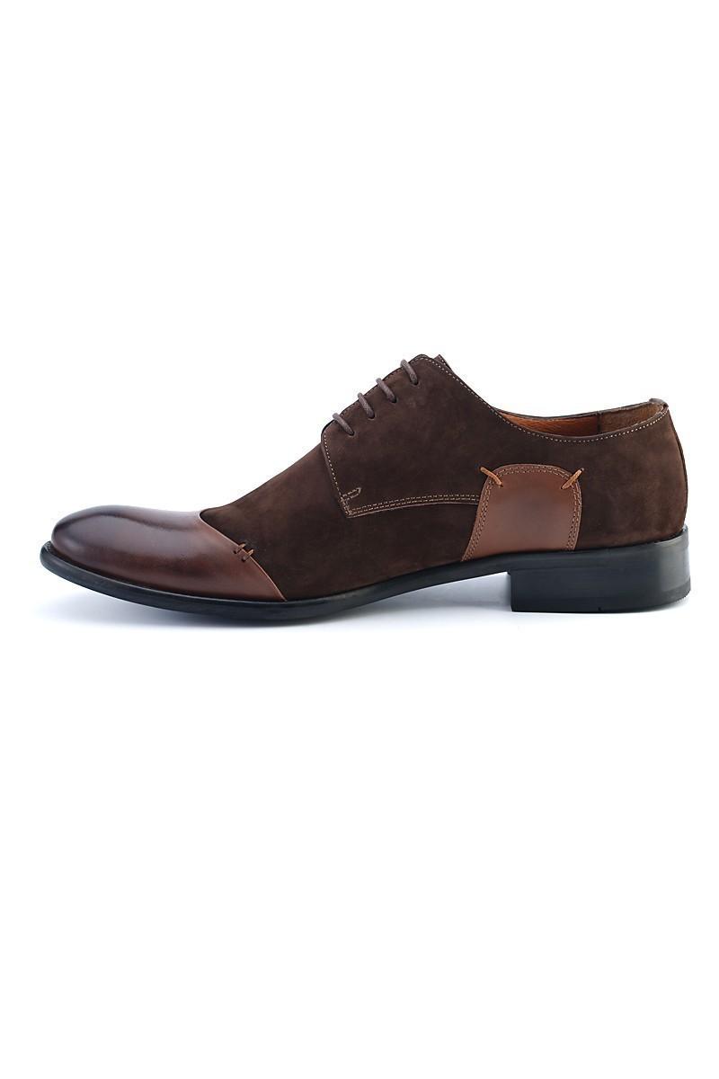 Wenetti Kahverengi WNT-011 Hakiki Deri Erkek Klasik Ayakkabı
