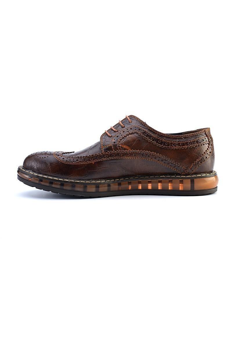 Pandew Kahverengi PNDW-8080-CROCODIL Hakiki Deri Erkek Ayakkabı