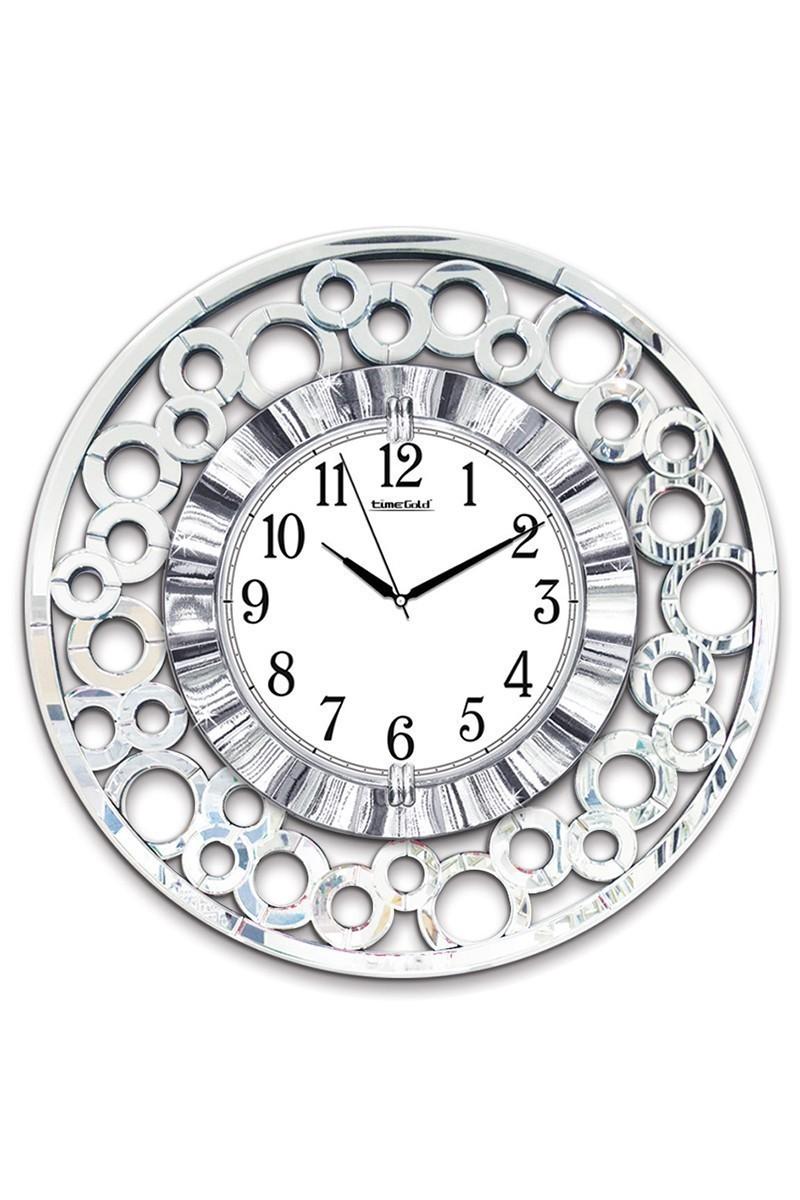 BS Gümüş Rengi BS-TG269 Ayna Ayetli Duvar Saati