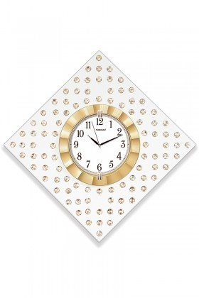 BS Altın Sarısı BS-TG268S Taşlı Duvar Saati