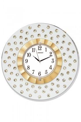 BS Altın Sarısı BS-TG268 Taşlı Duvar Saati